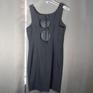 Misty Lane Dresses - MISTY LANE BLACK DRESS CUTOUT BUTTON BACK AS 5/6